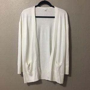 J. Jill Size Petite Medium White open cardigan